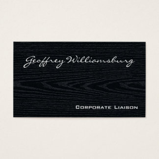 Plain Black Wood Professional Business Cards