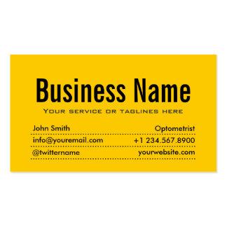 Plain Black & Yellow Optometrist Business Card