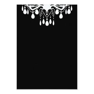 "Plain Blank Black Grand Ballroom 5"" X 7"" Invitation Card"