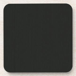Plain Blank Black Grey DIY add quote text photo Coaster