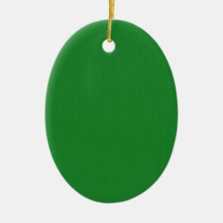 Plain Blank Green DIY template add text photo quot Ceramic Ornament
