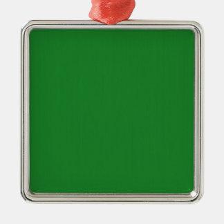 Plain Blank Green DIY template add text photo quot Metal Ornament