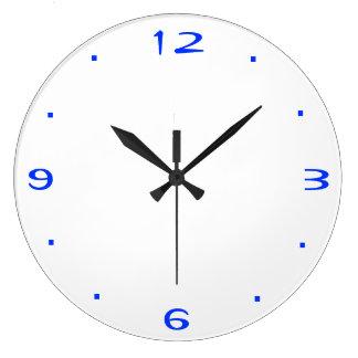 Plain Blue and White > Kitchen Clocks