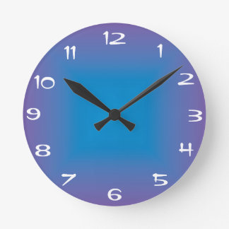 Plain Blue/Purple >Colored Kitchen Clock