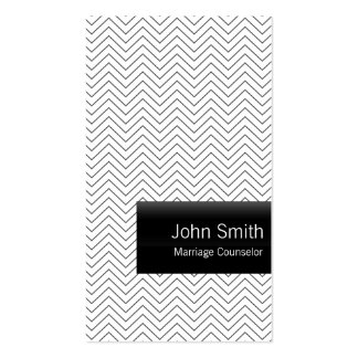 Plain Chevron Marriage Counseling Business Card