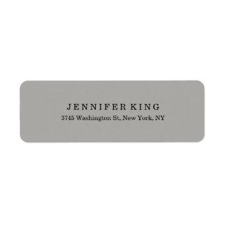 Plain Classical Grey Minimalist Professional