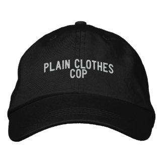Plain Clothes Cop Embroidered Hat