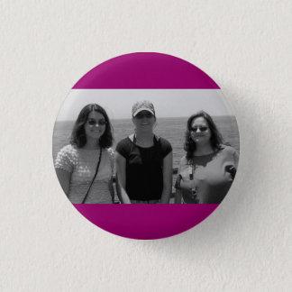Plain Dark Fuschia Pink Photo frame 1 Inch Round Button
