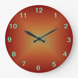 Plain Deep Burnt Orange >Kitchen Clocks