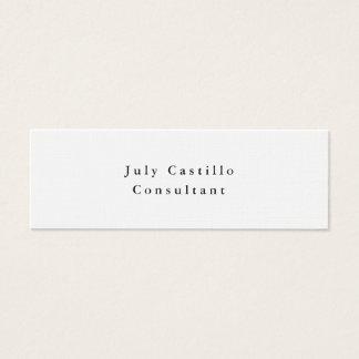 Plain Elegant Classical White Minimalist Design Mini Business Card