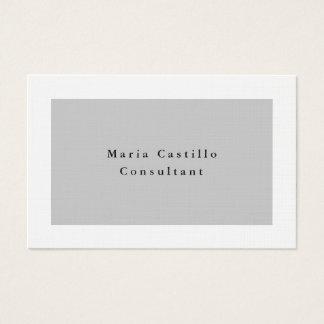 Plain Elegant Grey White Minimalist Modern Business Card