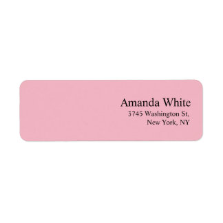 Plain Elegant Minimalist Modern Feminine Pale Pink