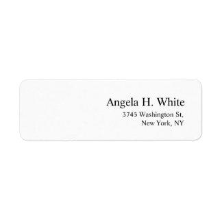 Plain Elegant Minimalist Modern Professional White