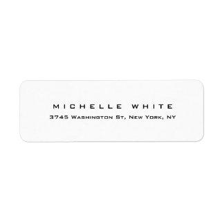 Plain Elegant Modern Black White Minimalist