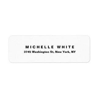 Plain Elegant Modern Minimalist Black & White Bold