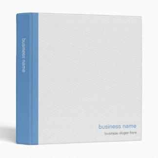 Plain Elegant Modern Simple Blue Stripe on White 3 Ring Binders