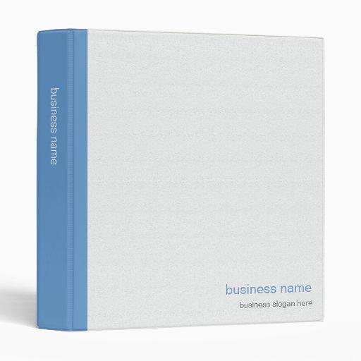 Plain Elegant Modern Simple Blue Stripe on White Vinyl Binder