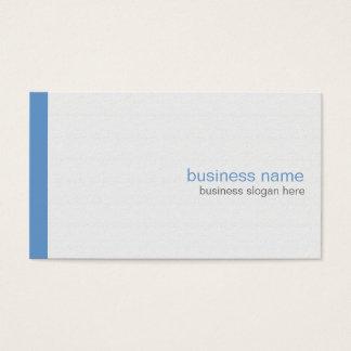 Plain Elegant Modern Simple Blue Stripe on White Business Card