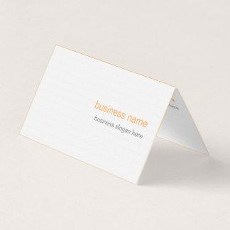 Plain Elegant Modern Simple Orange Background Business Card