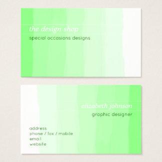 Plain Elegant Simple Green Watercolor Pastel Business Card