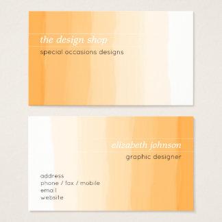 Plain Elegant Simple Orange Watercolor Pastel Business Card