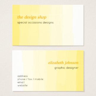 Plain Elegant Simple Yellow Watercolor Pastel Business Card