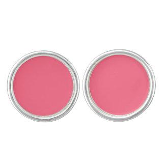 Plain Flamingo Love Hot Pink cufflinks round
