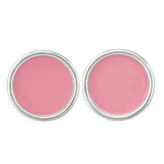 Plain Flamingo Love Pink cufflinks round