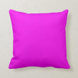 Plain Fuchsia (Pink) background Throw Pillow