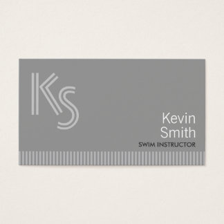 Plain Gray Swim Instructor Business Card