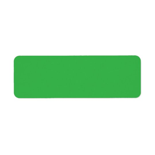 Plain green background blank custom return address