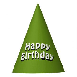 Plain Green Birthday Party Hat