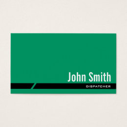 Logistics business cards business card printing zazzle ca plain green black stripe dispatcher business card reheart Images