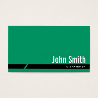 Plain Green Black Stripe Dispatcher Business Card