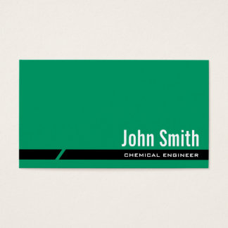 Plain Green Chemical Engineer Business Card