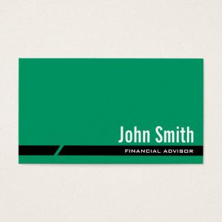 Plain Green Financial Advisor Business Card
