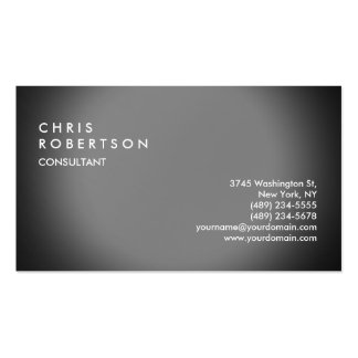 Plain Grey Modern Creative Business Card