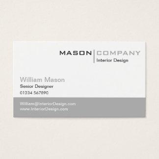 Plain Grey & White Stylish Business Card