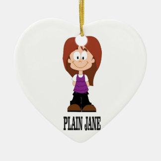 plain jane girl ceramic ornament