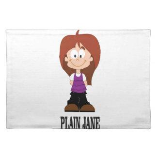 plain jane girl placemat