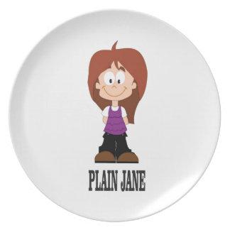 plain jane girl plate
