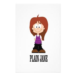 plain jane girl stationery
