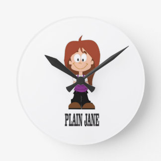 plain jane girl wallclocks