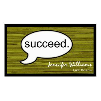 Plain Life Coach Succeed Modern Business Card