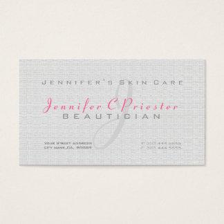 Plain Light GraySimple Burlap Linen Texture Business Card