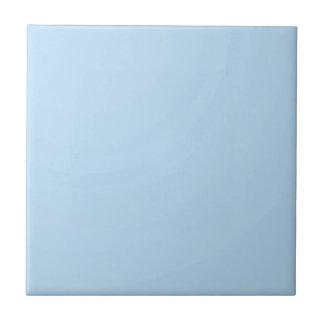 Plain Lightblue SkyBlue Shade: Add text or image Ceramic Tiles