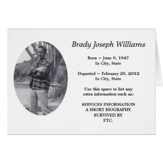 plain memoriam greeting card