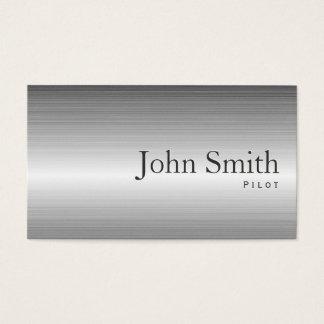 Plain Metal Pilot/Aviator Business Card