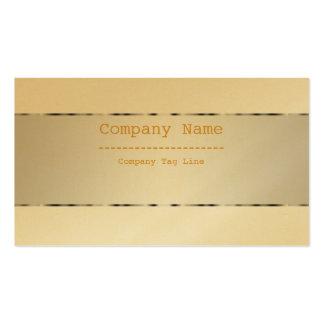 Plain Metallic Gold Design Stainless Steel Look Business Card