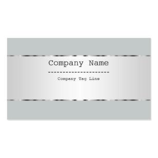 Plain Metallic Silver Design Stainless Steel Look Business Card